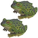 Design Toscano QM920510 Paquet de deux lapins/grenouilles/statue de crapaud de jardin Multicolore 19 x 24 x 15 cm