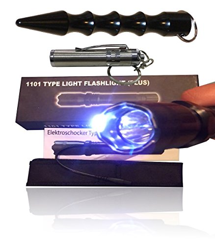 #Police 1001 Taschenlampe mit Elektroschocker und Kubotan#