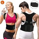 Gifort Geradehalter zur Haltungskorrektur, Schulter Rücken Haltungsbandage verstellbare Größe Rückenbandage für Herren und Damen (Style 2-L)