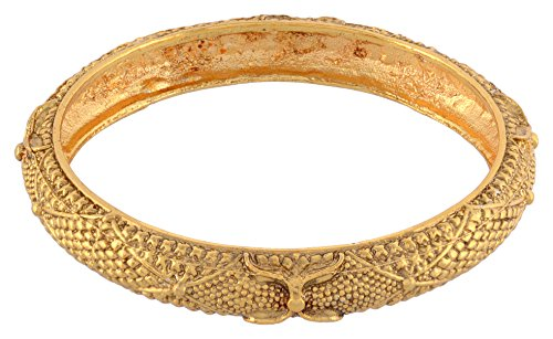 Nakshatra Gold Plated Light Weight Beautiful Bangle Set for Women & Girls (Size: 2.6, NA-09--2.6)