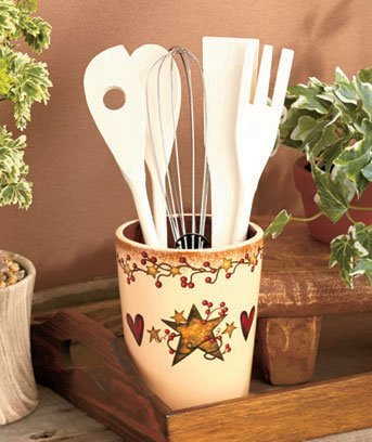 country-hearts-and-stars-6-pc-utensil-crock-set