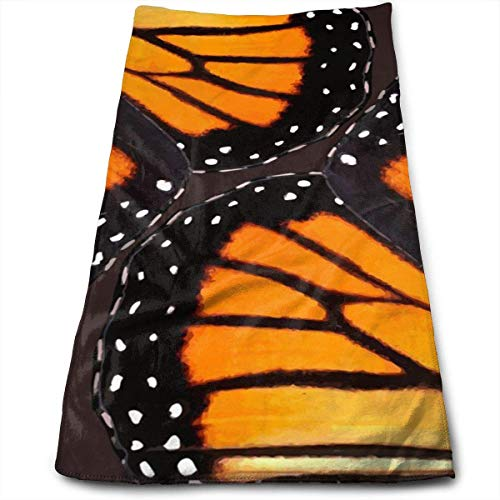 ERCGY Orange Monarch Butterfly Wings Polyester Towels Ultra Soft & Absorbent Bathroom Towels - Great Shower Towels, Hotel Towels & Gym Towels