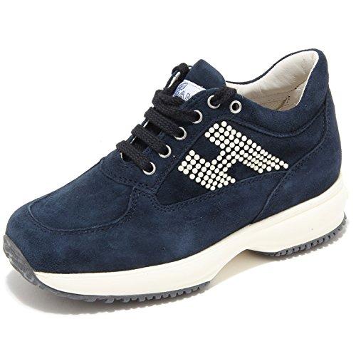 60270 sneaker blu HOGAN INTERACTIVE VINTAGE scarpa bimba shoes kids Blu