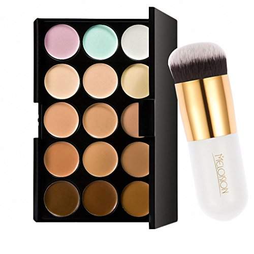 Imported Pro 15 Colors Contour Face Cream Makeup Concealer Palette with Powde...-54003134MG