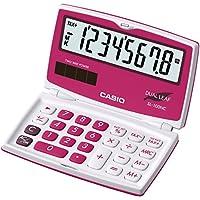 CASIO SL-100NC-RD calcolatrice tascabile - Display a 8 cifre, richiudibile, con struttura di colore bianca/rosso - Confronta prezzi