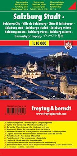 Salzburg Stadt, Stadtplan 1:10.000, Touristenplan, freytag berndt Stadtpläne: Stadskaart 1:10 000
