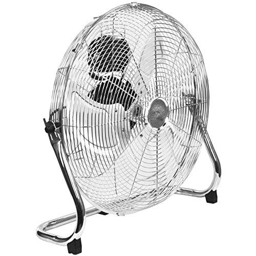 Oypla Electrical 18″ Chrome 3 Speed Free Standing Gym Fan