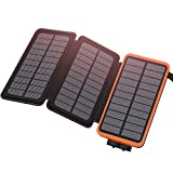 ADDTOP Solar Charger 24000mAh Waterproof Solar Power Bank High Capacity Portable Phone Chargers
