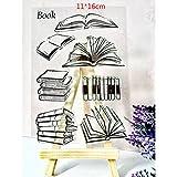 ECMQS Book DIY Transparente Briefmarke, Silikon Stempel Set, Clear Stamps, Schneiden Schablonen, Bastelei Scrapbooking-Werkzeug