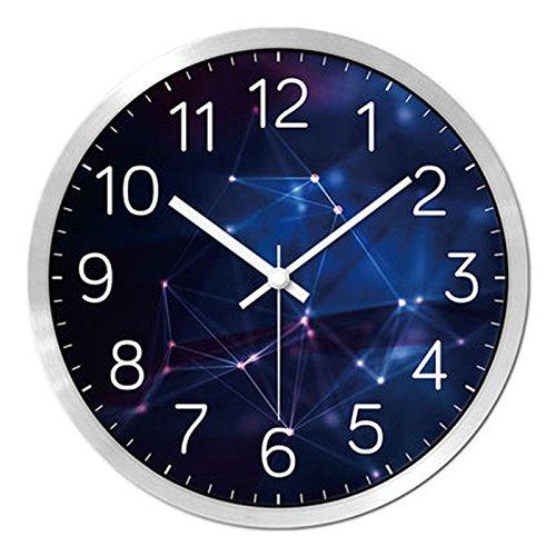 HFF Persönlichkeits-Uhren für die Wand von Moda Wohnzimmer Schlafzimmer Modern MUTO Wanduhr Restaurant L. Silber (Howard Miller-wand-uhren)