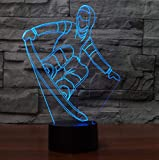 3D Snowboard Table Lampe Usb Visual Led Night Light Veilleur De Sommeil Éclairage...
