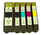 5 Kompatible Patronen mit Chip für Epson T2621, T2631, T2632, T2633, T2634 geeignet für Epson Expression Premium XP600 /