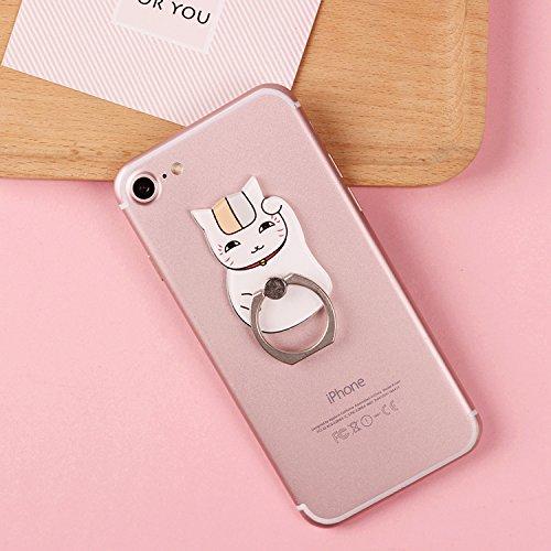 Pop Phone Grip ausziehbarer Ständer Multifunktionaler Smartphone-Halter Universal Telefon Finger hands Socket Halterung - Weiße Katze winkte