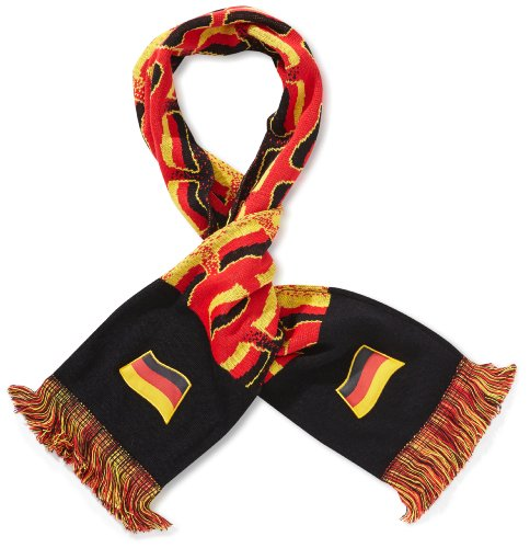 Brauns 95061 Deutschland – Bufanda de Alemania, color negro, rojo y amarillo