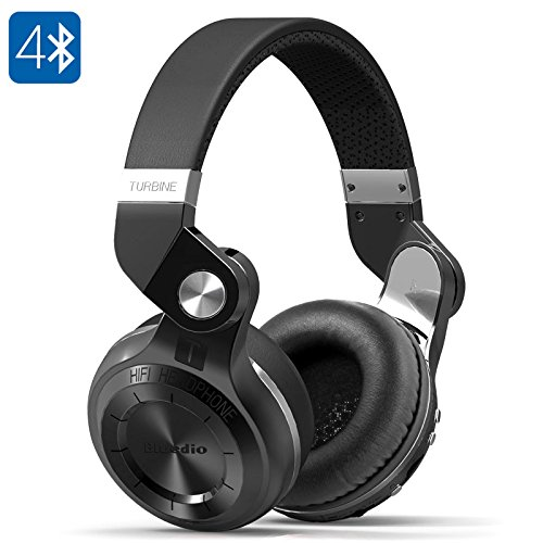 Bluedio T2 Plus Turbine Wireless Bluetooth Headphones (Black)
