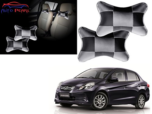 Autopearl - Premium Make Grey & Black Designer Car Neck Rest Pillow For - Honda Amaze  available at amazon for Rs.399