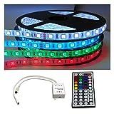 KOMPLETT SET: 5m - 30m LED RGB mehrfarbig Strip/Leiste / Streifen/Stripes wasserfest mit Netzteil + Controller + Fernbedienung (15m (3x 5m))