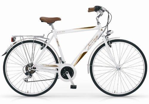 Mbm - Touring Bicyclette Vélo Homme 28'' 18S H54 Trekking City Bike Blanc