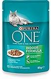 One Indoor Formula Katzenfutter mit Thunfisch und grünen Bohnen, 24er Pack (24 x 85 g)