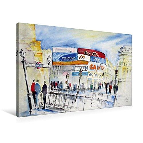 Premium Textil-Leinwand 90 cm x 60 cm quer, London | Wandbild, Bild auf Keilrahmen, Fertigbild auf...