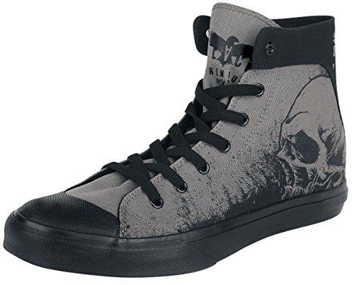 Black Premium by EMP Skull Sneaker Scarpe grigio EU46