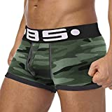 happy event Herren Unterwäsche Shorts Unterhose | Männer Unterwäsche Brief gedruckt Boxershorts Shorts Bulge Pouch Unterhosen (Grau, XXL)