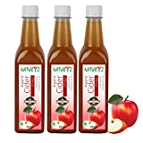 #4: Naturyz Apple Cider Vinegar with Mother Vinegar, Natural, Raw, Unfiltered, Undiluted – 500 ml (Pack of 3)