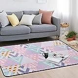 home carpet Pastoralen Persönlichkeit Mosaik Teppich Teppich Nachttisch Wohnzimmer Schlafzimmer Couchtisch Teppich, Rosa, 160X230cm