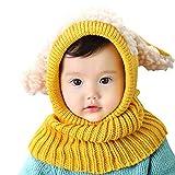 AUVSTAR Neonata per bebè Bambino Inverno Sciarpa Set Cutest Earflap  Cappuccio Warm Knit Hat Sciarpe con 2936211c4cd8