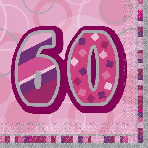 Glitz Geburtstag Papier Servietten, 16Stück (Papier Geburtstag Party Servietten)