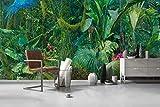Carta da parati murale-non-tessuta-3D-foto poster-europeo dipinto a mano foresta pluviale tropicale rana rossa albero murale idilliaco sfondo muro 430cmx300cm Carte da parati non tessute/Murales/C