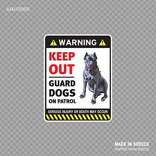 Guard Dog Security Self Adhesive Vinyl Sticker-Go Ahead Make