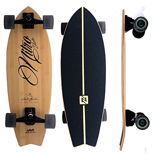 nitrosk8 - Surfskate Komplettsystem- CARLOS BURLE BAMBOO - carver skate system - Surf Simulator