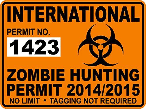 International Zombie Jagd Behindertenausweis Sticker/Aufkleber 2014/15Apokalypse weltweit–1423 (Zombie-apokalypse-aufkleber)