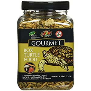 Zoo Med Gourmet Box Turtle Food Natural with Added Vitamins and Minerals 8.25oz