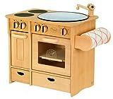 Unbekannt 932-2042 DL Drewart Kinderküche mit Zubehör Spielküche Massivholz