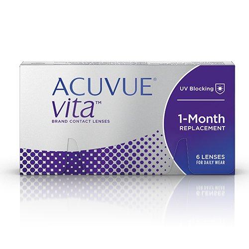 ACUVUE Vita Monatskontaktlinsen mit maximalem Tragekomfort - Den ganzen Monat lang - -2.25 dpt & BC 8.4 - Mit UV Schutz & durchgängig hohem Feuchtigkeitsgehalt - 6 Linsen