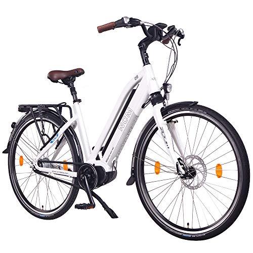 NCM Milano MAX N8C Bicicleta eléctrica de Trekking con Motor Central y Freno contrapedal, Batería...