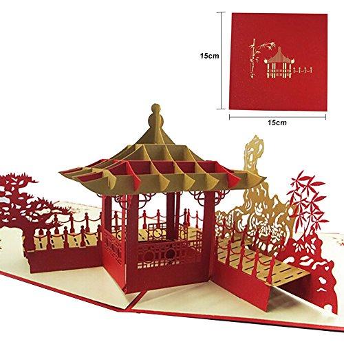 n und Drache 3D Gruß Geschenkkarte Handgeschöpftes Papier Karte Geburtstag Hochzeitstag Freundschaft Danke besten Wunsch viel Glück Postkarte von Shiningup ()