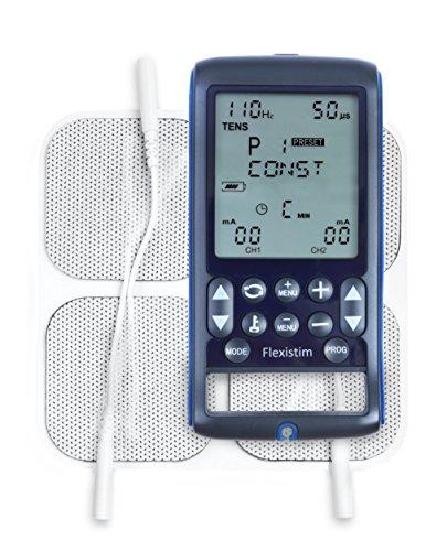TensCare Flexistim - Completo electroestimulador con 4 terapias: EMS, TENS, IFT y MICROCORRIENTE. Para uso profesional y en el hogar.