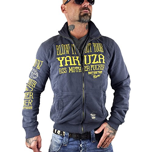 Yakuza Zip Jacke Blow It Out ZB8033 dunkelgrau