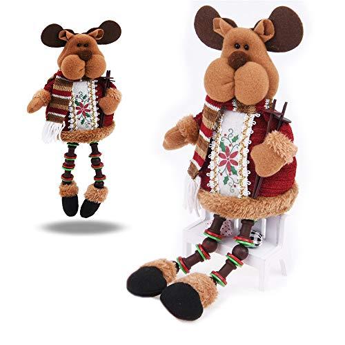 Ofkpo natale seduto babbo renna bambola di neve/renna bambola decorazioni per regali per bambini e decorazioni per la casa