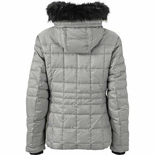 JAMES&NICHOLSON - anorak doudoune veste matelassée JN1101 - FEMME - ski - sports d'hiver - neige Gris argent