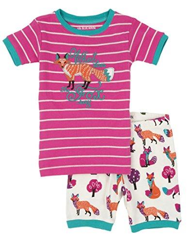 Hatley Little Blue House by Girl's Party Fox Shorts Pyjama Set