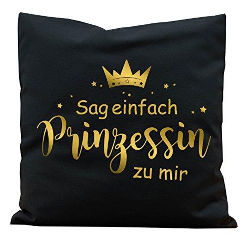 Wandtattoo-Loft Kissen Krone mit Spruch Sag einfach Prinzessin -
