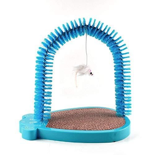 Kratzer, Kratzer, Kratzer, Katzenschaber und Pflege, automatische Ästhetik und Massagegerät sind ideal für Spiel und Kratzer, langlebige Bauweise blau -