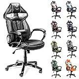 Diablo X-Gamer silla de oficino, silla de gaming, silla de escritorio (negro-gris oscuro)