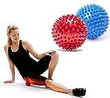 LvLoFit Igel Massageball Triggerpunkt Massagebälle 7.5 cm Hart Muskel Rolle Nacken Schulter Fuß Plantar Fasciitis Rolle Selbstmassage - Set of 2