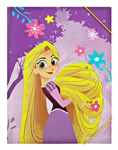 Undercover ravt0300A4-Carpeta con Goma, Disney Rapunzel