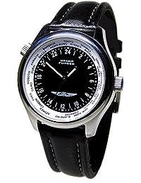 Union Flieger 1268 Sociedade de Relojoaria Independente - Reloj , correa de cuero color negro